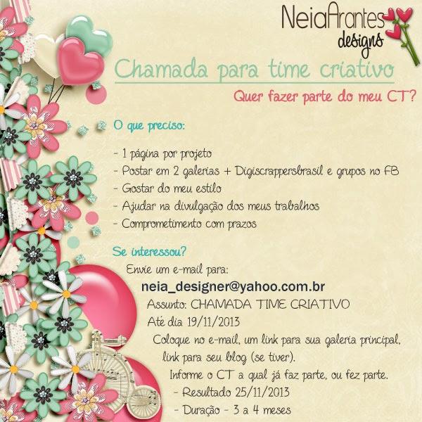 Neia Arantes - Chamada para time criativo ChamadaCT-Neiaarantes