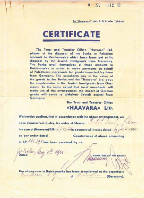 Rebatiendo la conspiración comunista-judeo-masónica. - Página 2 51_Haavara_certificado