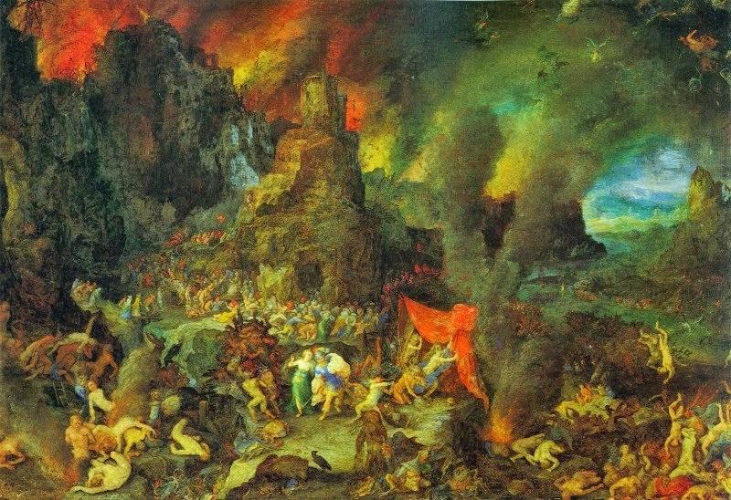 Eneas, el superviviente de la Guerra de Troya. Jan_Brueghel_the_Elder_-_Aeneas_and_the_Sibyl_in_the_Underworld