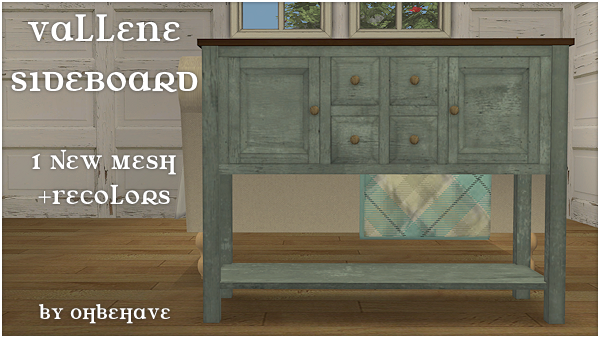 Vallene SideBoard (Requested by Vallene @Facebook) ValleneSideBoard