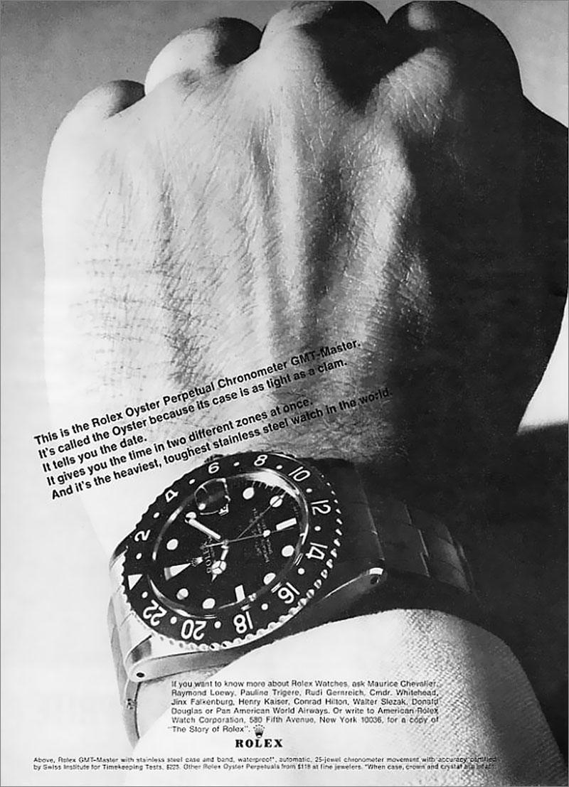 heaviest, toughest sainless steel ... 1966-Rolex-GMT-Master-Ad