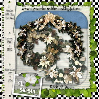 Christmas Wreath by Adry Piliero APD_cuXmasELE-Preview