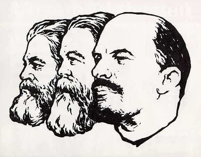 """""""El leninismo"""" – extracto del libro """"Temas de formación marxista-leninista"""" - Editorial Contracanto - año 1989 Marx_engels_lenin"""