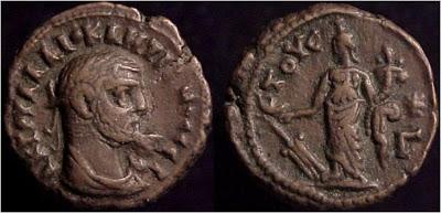 Tetradracma de Diocleciano. Alejandría 1