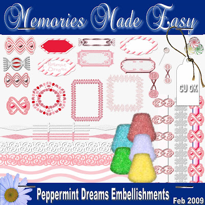 Peppermint Dreams Embellishments (Memories Made Easy) MME_Kit_PeppermintDreams_PREVIEW