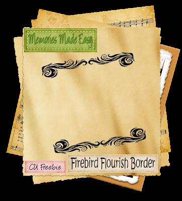 Firebird Flourish Border (Memories Made Easy) MME_FirebirdFlourishBorder_Preview