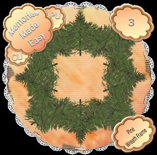Pine Wreaths 1-4 (CU OK) {Memories Made Easy} PineWreath_3_PREVIEW