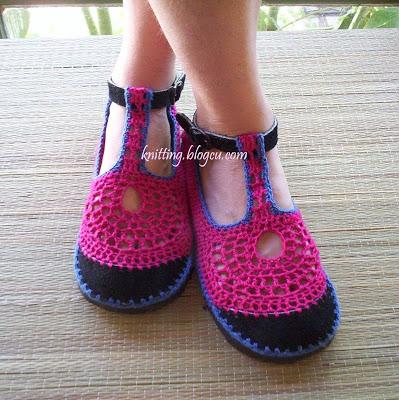 احذية كروشيه روعة  Slippers