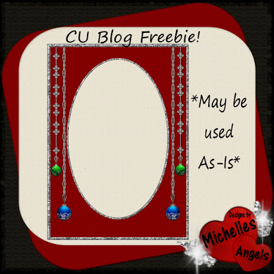 *CU CHRISTMAS FRAME FREEBIE* by Michelle @ Michelle's Angels MA_ChristmasFrame_prev