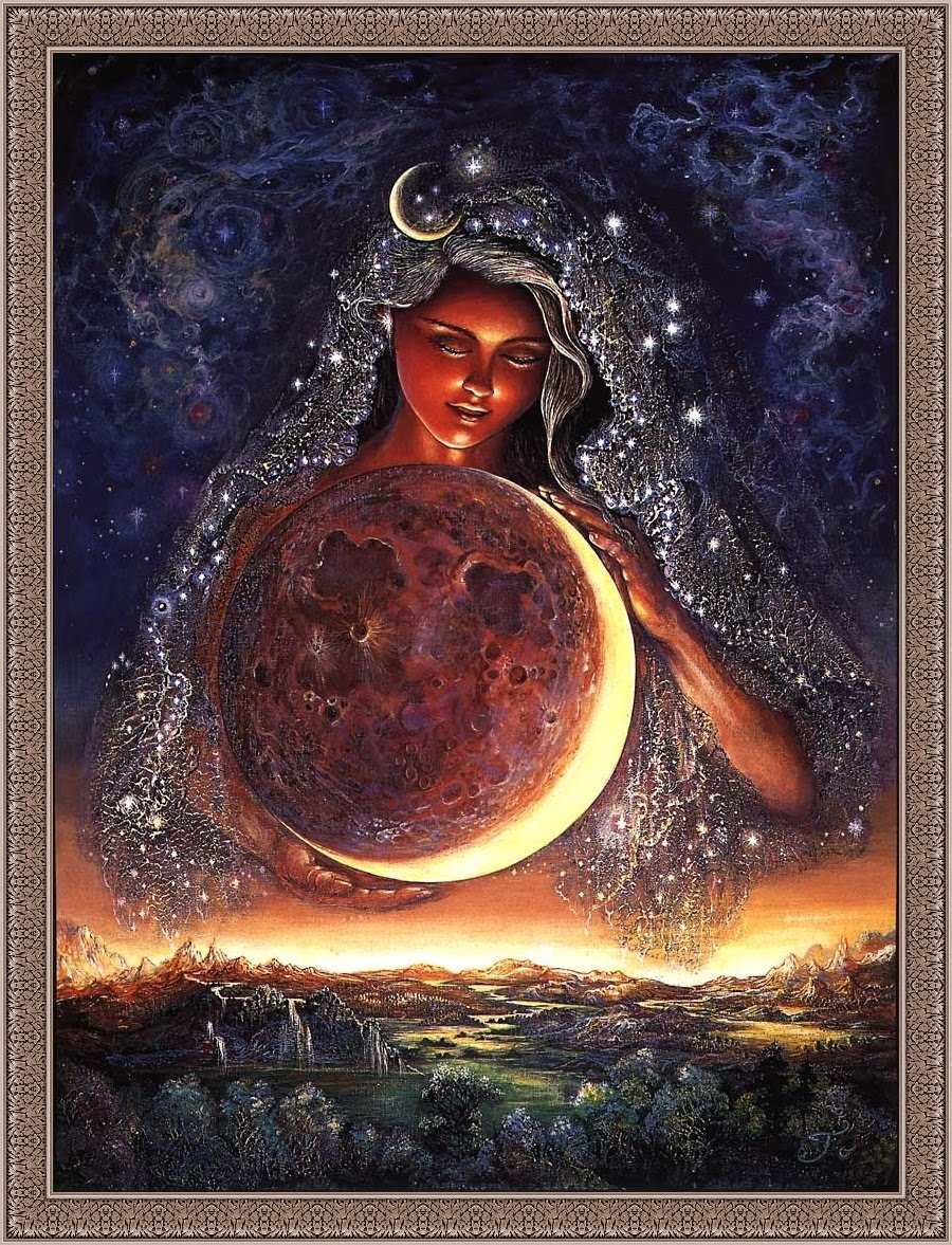 Tibet, Kali, and the Trinity Goddess - Page 5 Josephine_Wall_(1947-heden)_Moon_Goddess