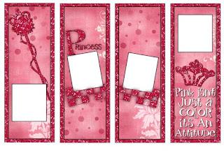 Princess Bookmarks (Primsy Doodle Designs) Image14300a5sample