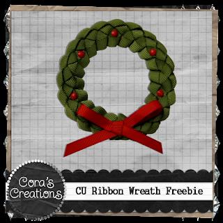 CU Freebie :: Christmas Ribbon Wreath by Cora Evans Cc-cu-wreath-prev