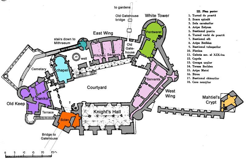 Castelul Corvinilor Parter