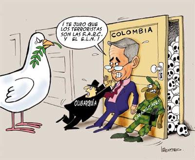 Humor gráfico contra el capitalismo, la globalización, la mass media occidental y los gobiernos entreguistas... Uribe3
