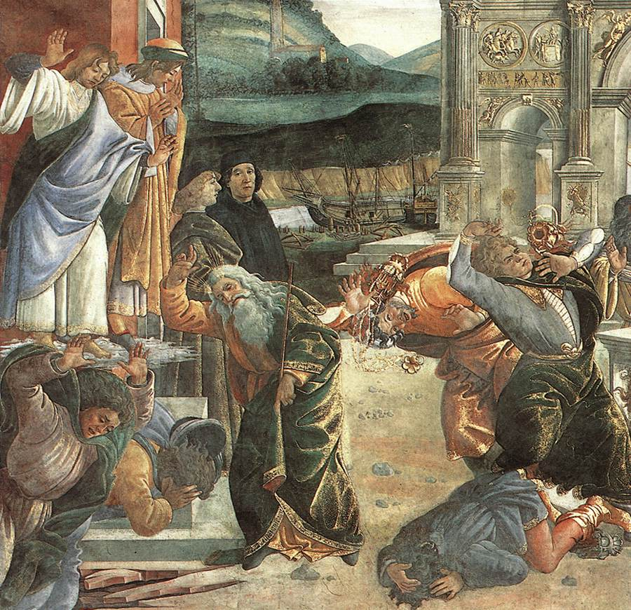 Sandro Botičeli Botticelli-The-Punishment-of-Korah-detail-2
