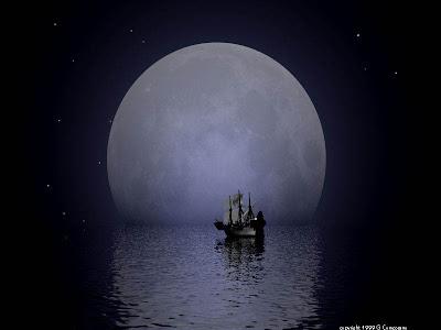 POEMAS SIDERALES ( Sol, Luna, Estrellas, Tierra, Naturaleza, Galaxias...) - Página 13 Luna-y-barco1
