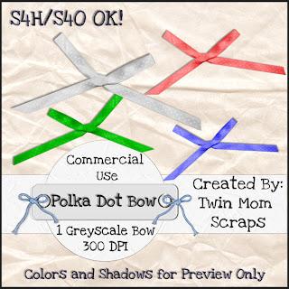 Polka Dot Bows - By: Twin Mom Scraps TMS_PolkaDotBowPREVIEW