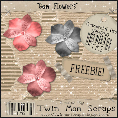 Gem Flower! (Twin Mom Scraps.) TMSGemFlowerPREVIEW