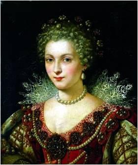 ¿Quién aparece en el cuadro 'Gabrielle D'Estress con una de sus hermanas en el baño'? Escuela de Fontainebleau (1592 aprox) Imagen1