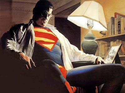 [Custom da Semana] Estátuas 1:1 Superman e Batman Alex Ross AlexRossSupdesk