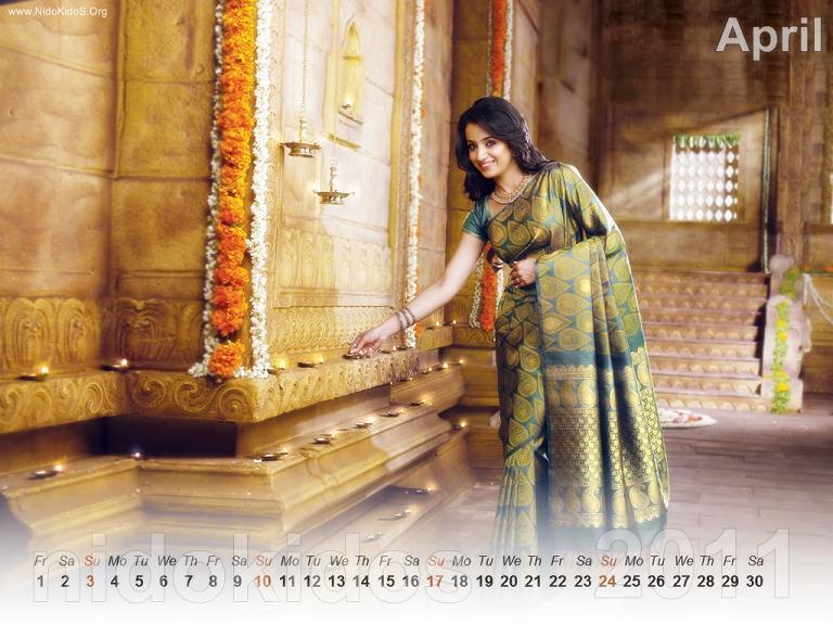Trisha Krishnan Trisha-New-Year-Calendar-2011-Desktop-Calendar-April
