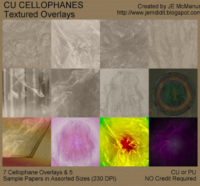 CU Cellophanes - Textured, Semi-Transparent Overlay Pack - Assorted Sizes Jem_cellophanes_prev