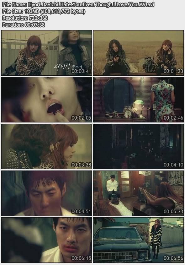 [080000] Davichi - Hate You Even Though I Love You (Starring: Hyori, Mi Yeon) [103M/avi] HyoriDavichiHateYouEvenThoughILoveY