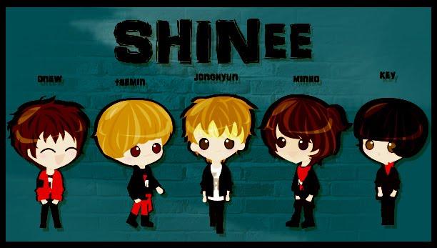 Hình manga của các nhóm nhạc Hàn Shinee