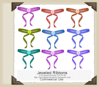 Jeweled Bows - By: A Scrappers Dream TWJeweledBowsPREV