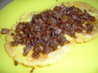 Tortos con picadillo de soja ( Saskia ) Tortos