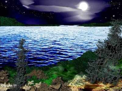 POEMAS SIDERALES ( Sol, Luna, Estrellas, Tierra, Naturaleza, Galaxias...) - Página 26 _lago-e-luar