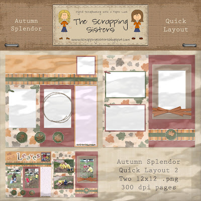 Autumn Splendor Quick Layouts by Scrapping Sisters _ScrapSis_ATMN_QuickLayout2Preview