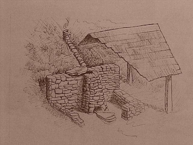 Cuptorul din Valea Caselor (Ghelari), cuptor de mare performanţă din secolul al IX-lea. VALEAC