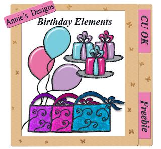 Birthday Embellishments (DigitalScrapbookLove) Birthday