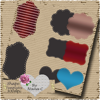 Scalloped Templates made By Nana Preview