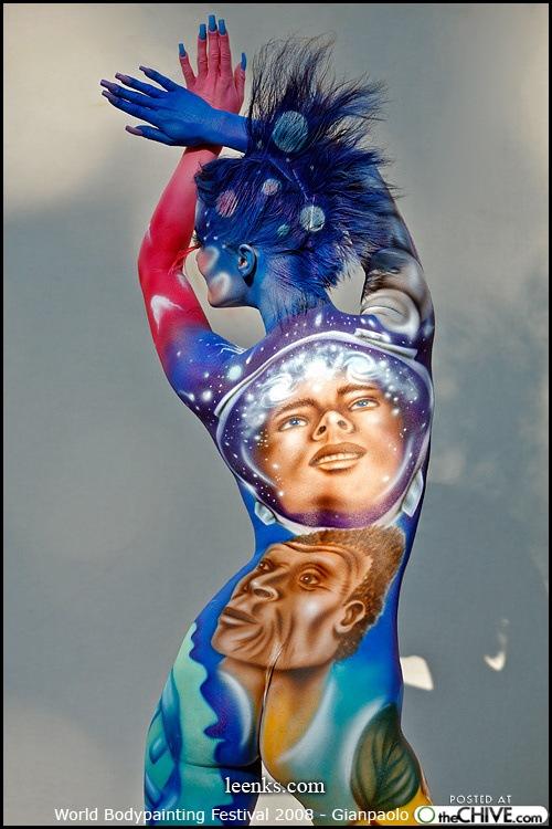 Album ảnh nghệ thuật body painting tuyển chọn. Body-paint-face-girl