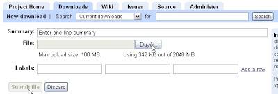 Dùng Google Code,Google Site làm host chứa file js Gc2