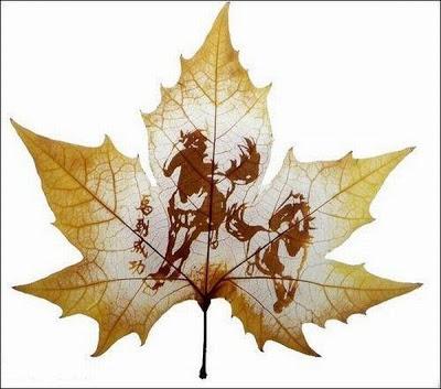 இலைகளில் அழகிய உருவங்கள்  Figures-on-leaves-11