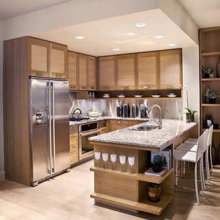 أفكار حلوة للرفوف Modern-wood-kitchen