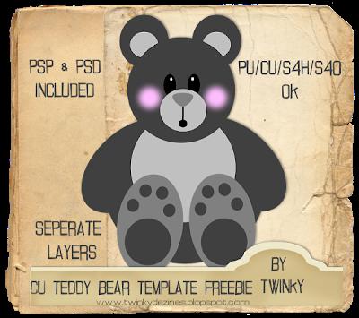 CU Teddy Bear Template - By: Twinky TeddyBearTemplatePreview