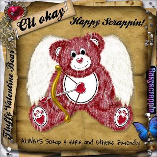 Fuzzy Bear - By: BusyScrappin Folder