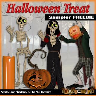 CU Halloween Poser Sampler Folder