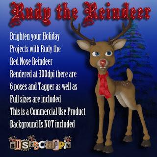 CU Poser Freebie Rudy Red Nose Reindeer BS_RudyPreview
