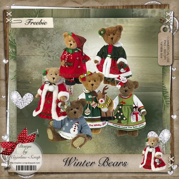 WINTER BEARS CU Cajoline_winterbears_cu