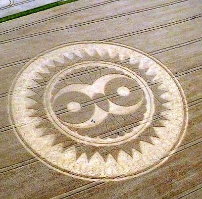 """Angleterre : Impressionnant crop circle d'une """"chouette"""" dans le Wiltshire P1060035b"""