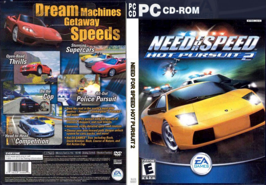 מישחקי  להורדה בטורנט  PC NeeD For SpeeD Need-For-Speed-Hot-Pursuit-2-Dvd-Pc