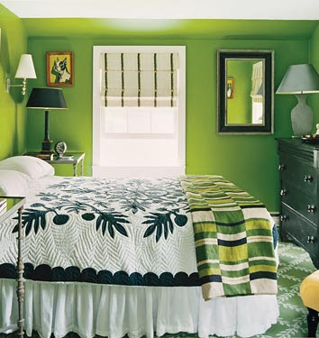 ديكورات باللون الاخضر Grass%20Green%20bedroom%20Dominomagcom