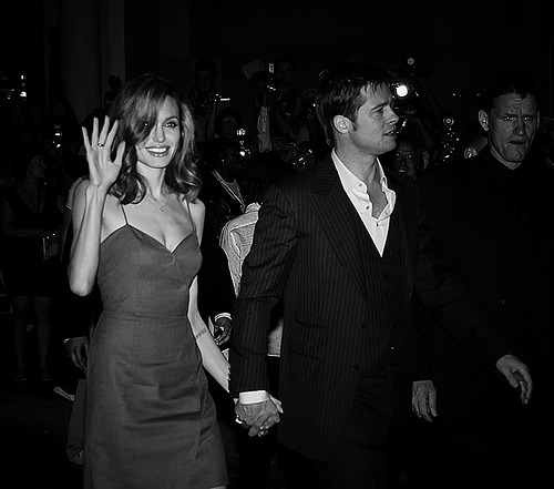 Brad Pitt and Angelina Jolie. Tumblr_lh5v0ikJ4s1qggq52o1_500