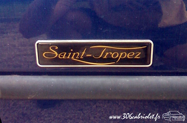 [ FOTOS ]Lista de Series Especiales de 306 cabrios (Roland Garros, Saint-Tropez, Suisse, Platinum etc.) Monogramme-sttropez