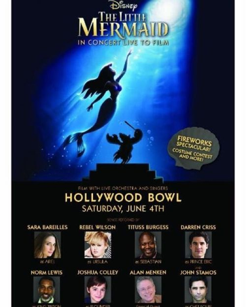 music - The Little Mermaid at the Hollywood Bowl on June 3, 4, and 6, 2016 Tumblr_o5a2uvUW0p1uetdyxo1_500